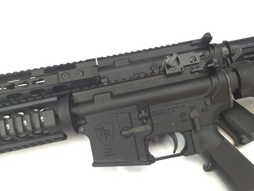 ar15 with keymod rails attached
